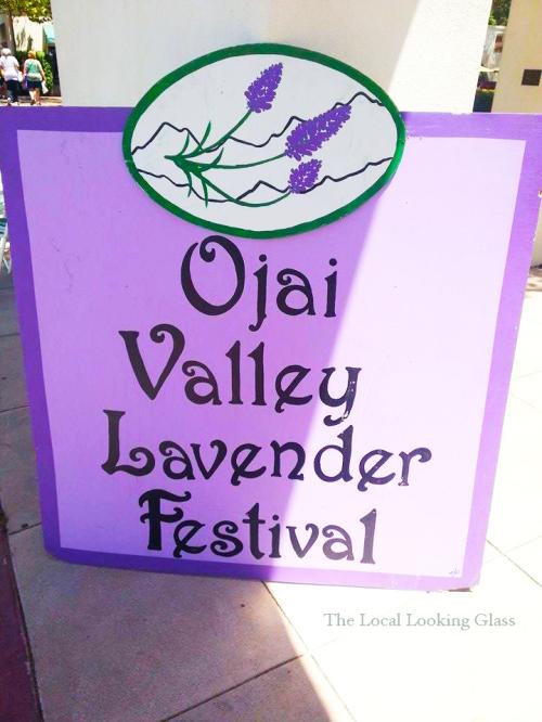 Ojai Valley Lavender Festival Sign